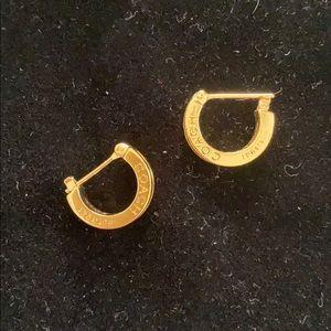 Coach Gold Hoop Earrings